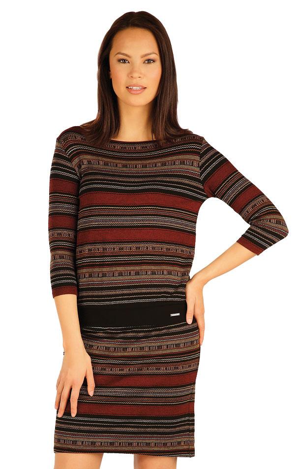 Šaty dámske s 3/4 rukávom. 51018 | Šaty a sukne LITEX
