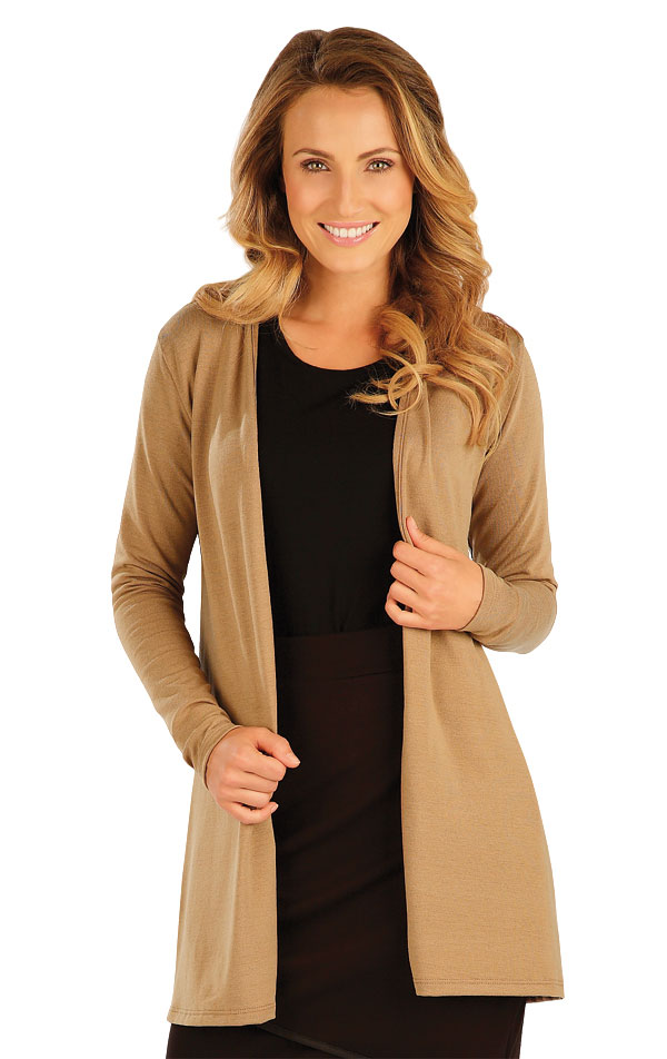 Cardigan damsky s dlhým rukávom. 51073 | Športové oblečenie -  zľava LITEX