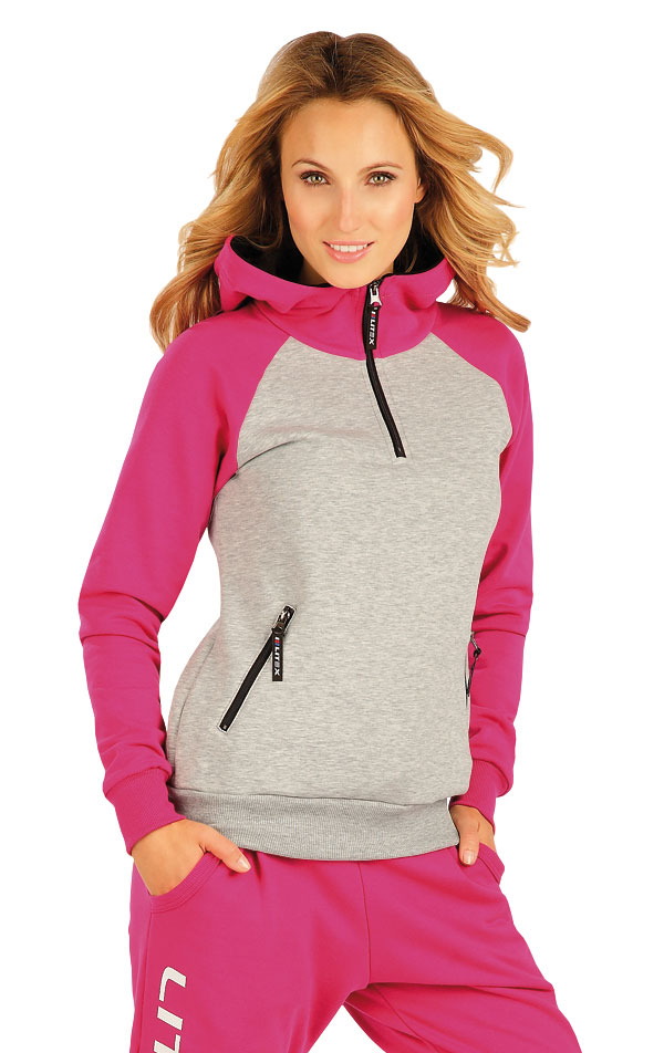 Mikina dámska s kapucňou. 51249   Športové oblečenie -  zľava LITEX