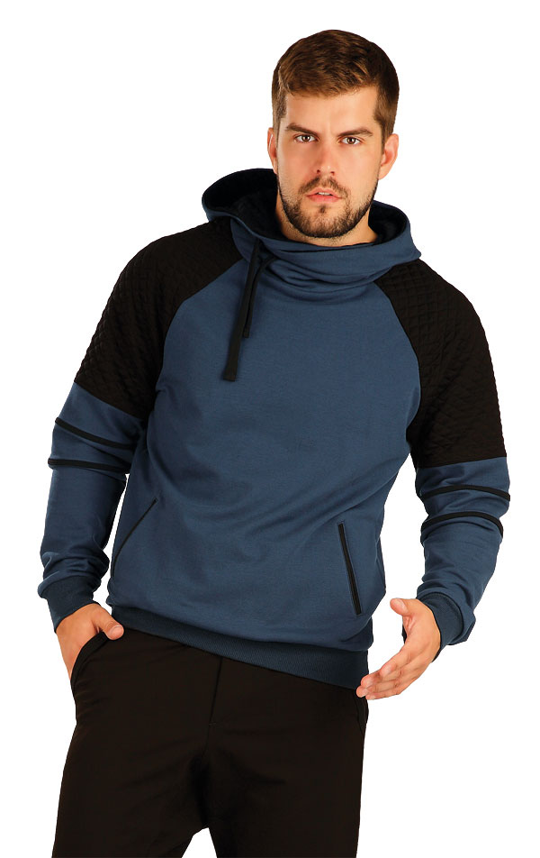 Mikina pánska s kapucňou. 51251 | Športové oblečenie -  zľava LITEX