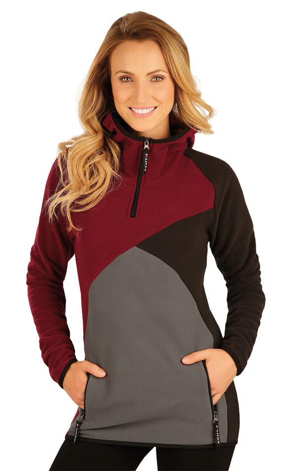 Mikina dámska s kapucňou. 51306 | Športové oblečenie -  zľava LITEX