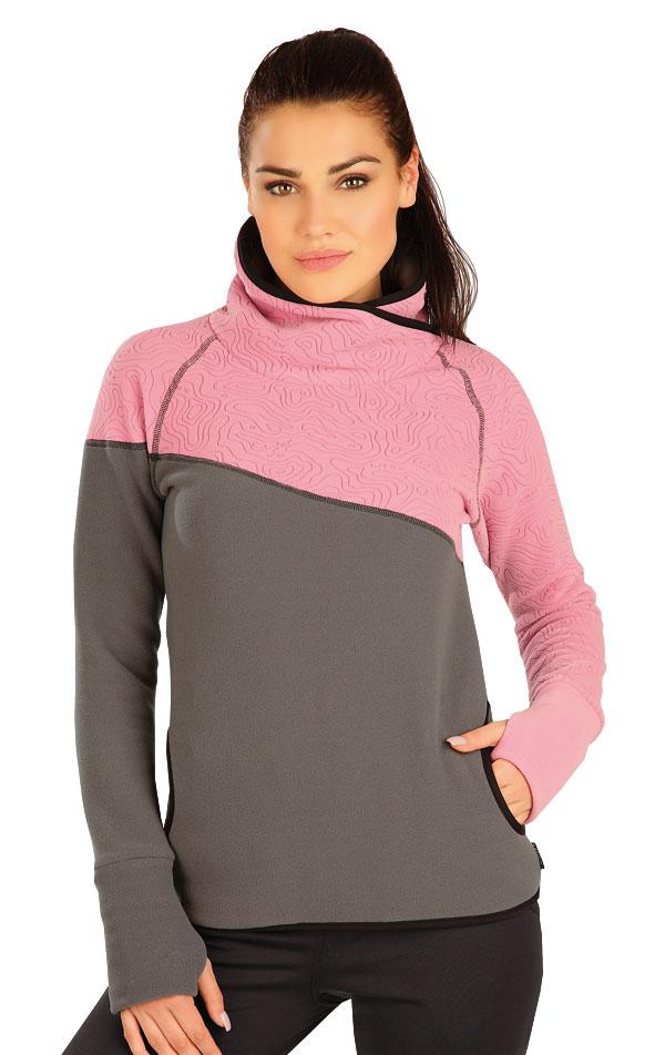 Mikina dámska so stojačikom. 51316 | Športové oblečenie -  zľava LITEX