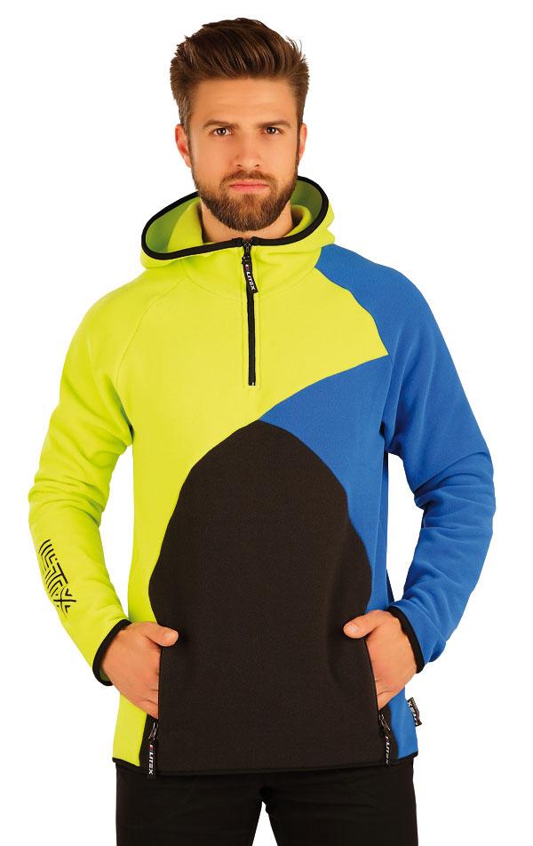 Mikina pánska s kapucňou. 51332 | Športové oblečenie -  zľava LITEX