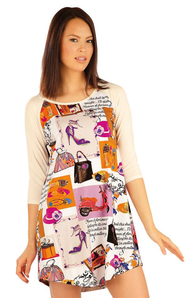 Dámska nočná košeľa s 3/4 rukávom. 51446 | Športové oblečenie -  zľava LITEX