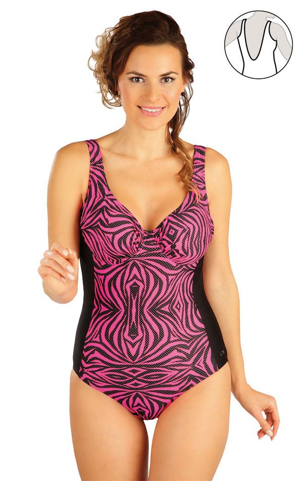 Jednodielne plavky s kosticami. 52063 | Dámske plavky - zľava LITEX