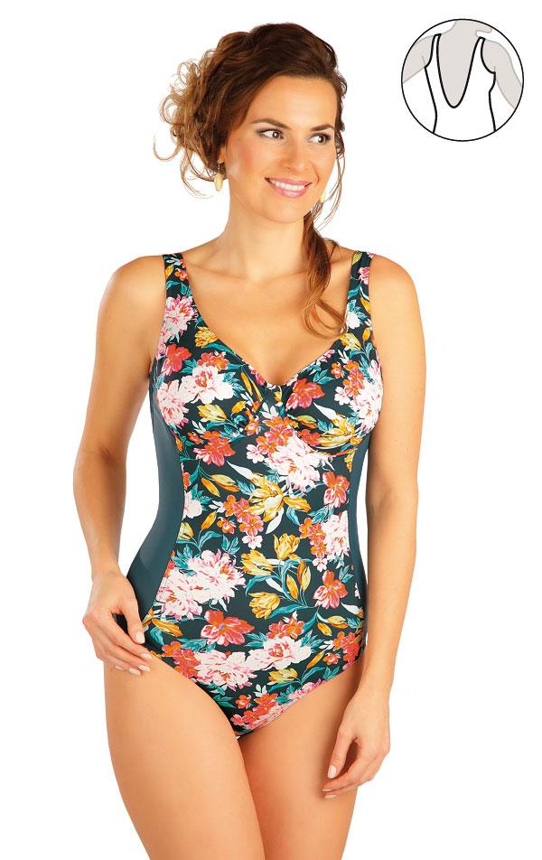 Jednodielne plavky s kosticami. 52277 | Dámske plavky - zľava LITEX
