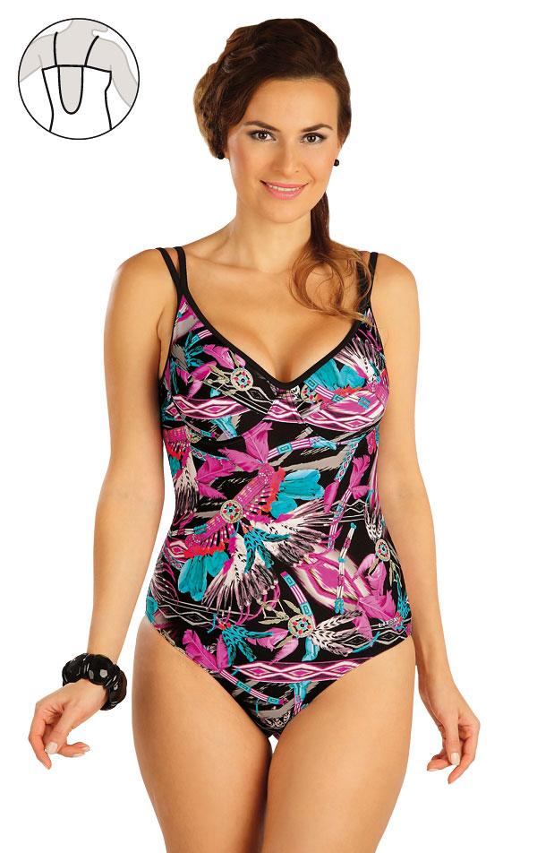 Jednodielne plavky s kosticami. 52312 | Dámske plavky - zľava LITEX