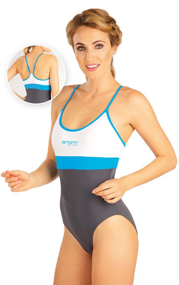 Jednodielne športové plavky. 52511 | Dámske plavky - zľava LITEX