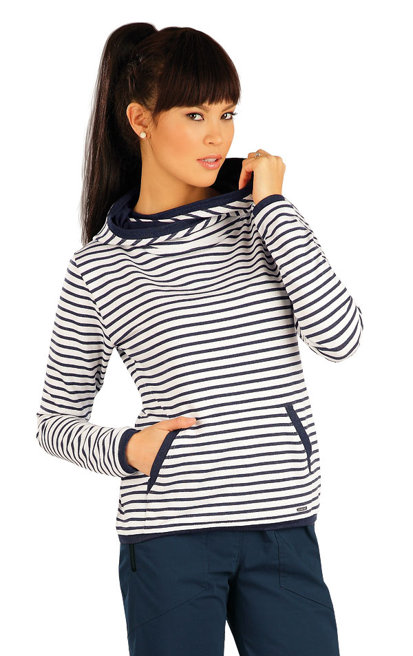 Mikina dámska s kapucňou. 54011 | Športové oblečenie -  zľava LITEX