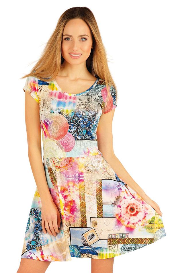 Šaty dámske s krátkym rukávom. 54039 | Šaty a sukne LITEX