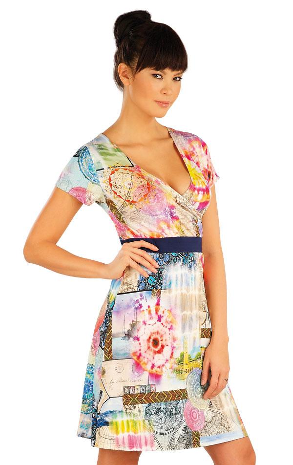 Šaty dámske s krátkym rukávom. 54040 | Šaty a sukne LITEX