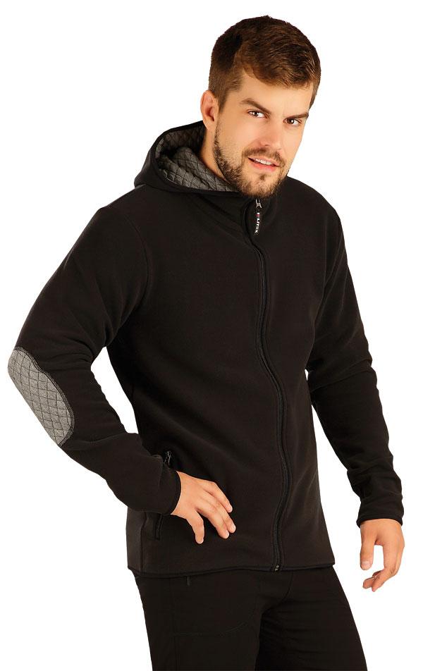 Fleecová mikina pánska s kapucňou. 55193 | Pánske oblečenie LITEX