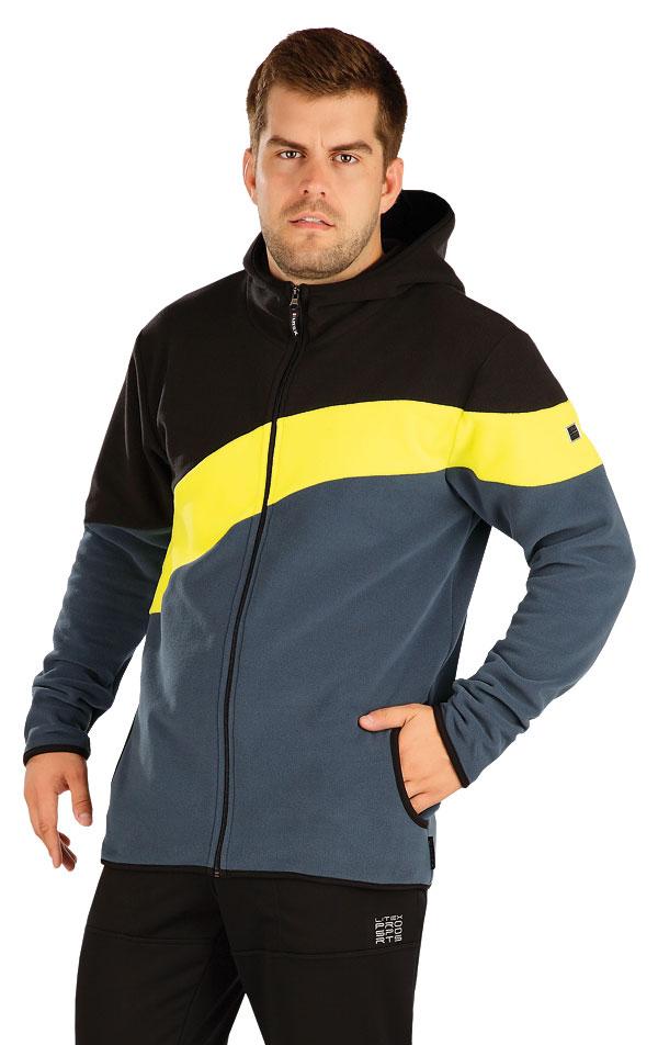 Fleecová mikina pánska s kapucňou. 55222 | Pánske oblečenie LITEX
