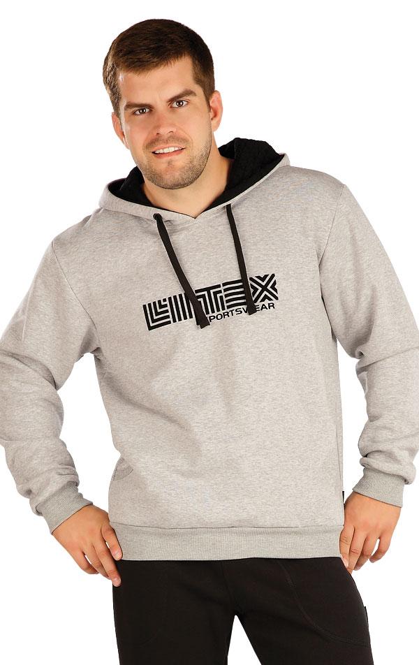 Mikina pánska s kapucňou. 55294 | Športové oblečenie -  zľava LITEX