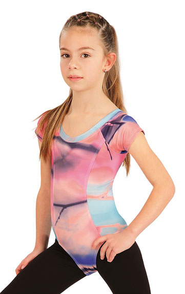 Detské oblečenie > Gymnastický dres detský s krátkym rukávom. 55438