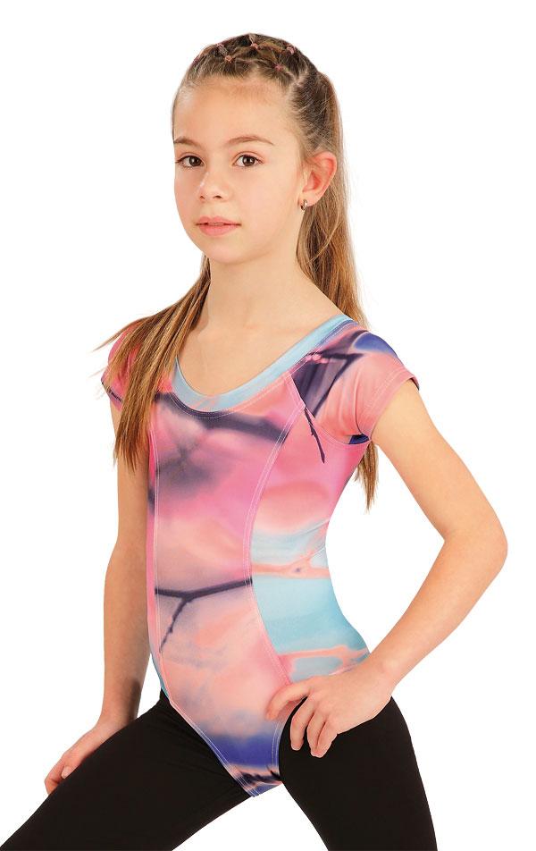 Gymnastický dres detský s krátkym rukávom. 55438 | Športové oblečenie -  zľava LITEX