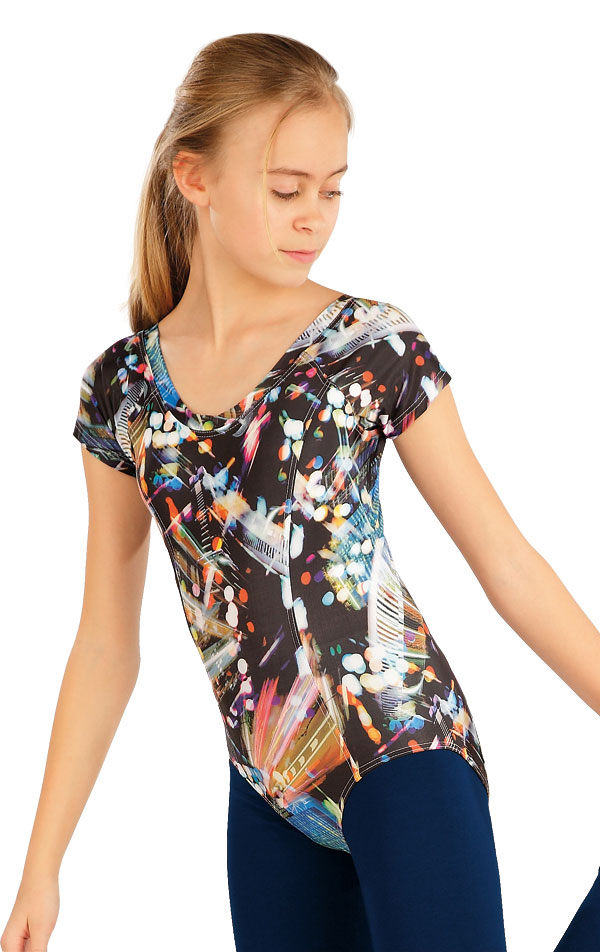 Gymnastický dres detský s krátkym rukávom. 55439 | Detské oblečenie LITEX