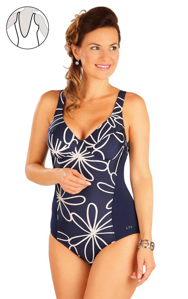Jednodielne plavky s kosticami. 57348 | Jednodielne plavky LITEX