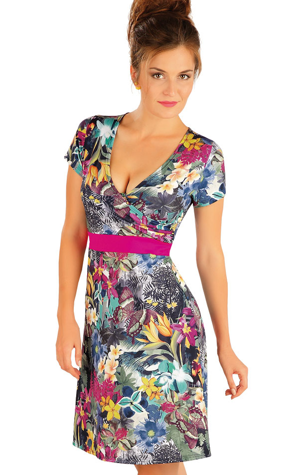 Šaty dámske s krátkym rukávom. 57495 | Plážové doplnky LITEX