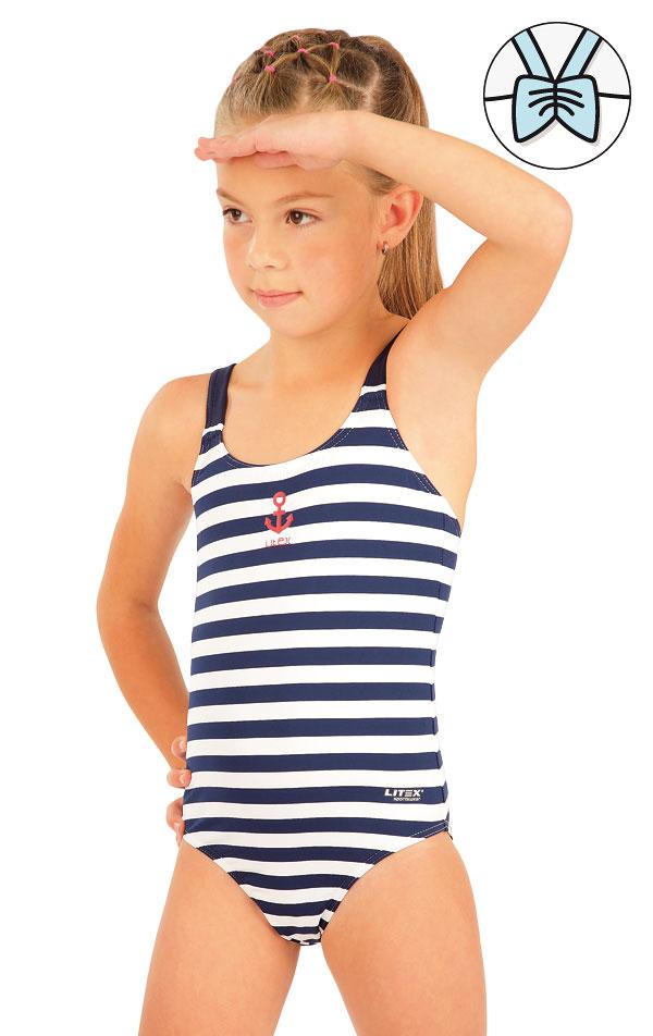 Jednodielne dievčenské plavky. 57537 | Dievčenské plavky LITEX