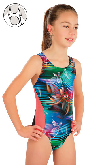 Dievčenské jednodielne športové plavky.