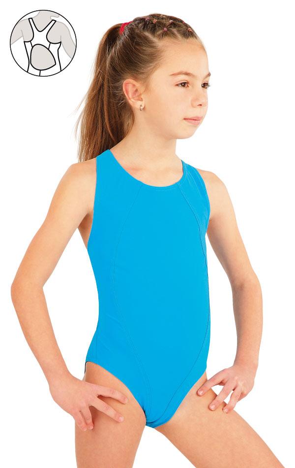 Dievčenské jednodielne športové plavky. 57592 | Dievčenské plavky LITEX