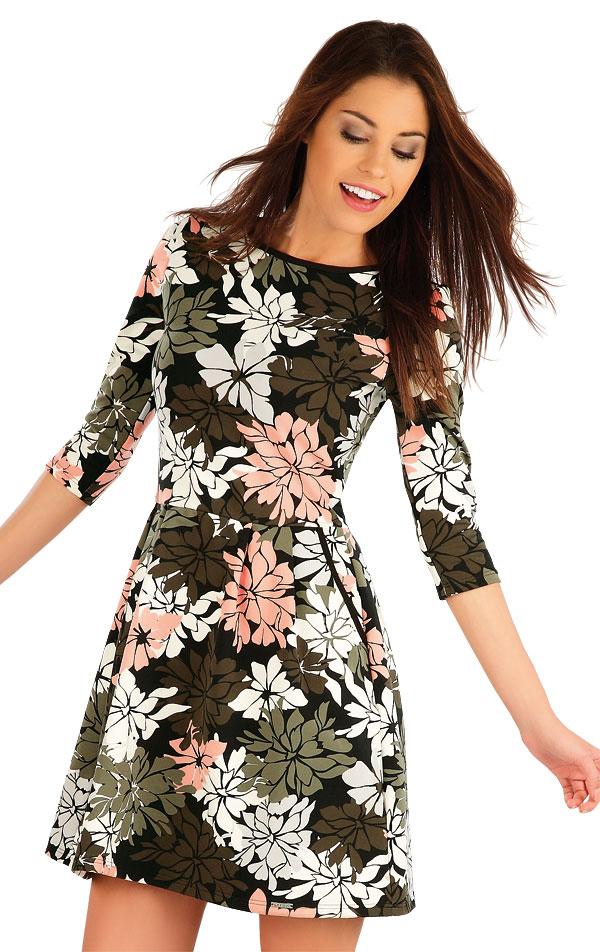 Šaty dámske s 3/4 rukávom. 58002 | Šaty a sukne LITEX