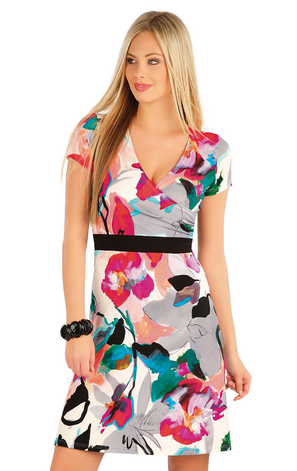 Šaty dámske s krátkym rukávom. 58018 | Šaty a sukne LITEX