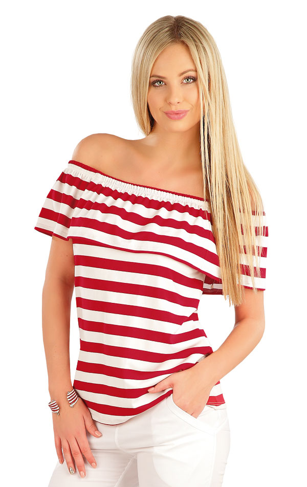 Tričko dámske s volánom. 58052 | Tričká, topy, tielka LITEX