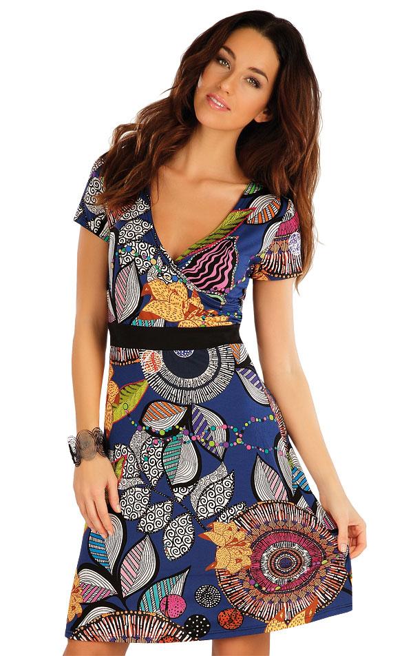 Šaty dámske s krátkym rukávom. 58084 | Šaty a sukne LITEX