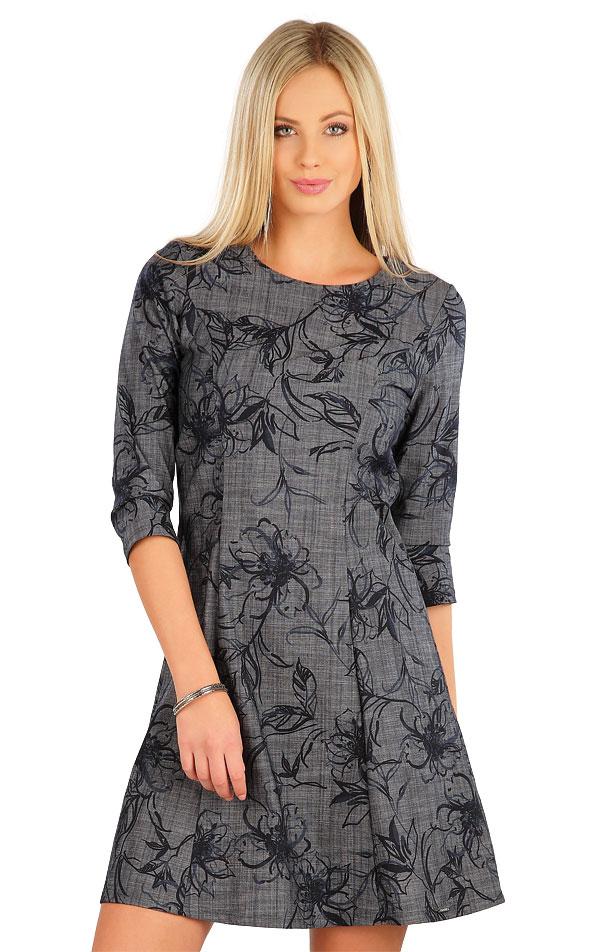 Šaty dámske s 3/4 rukávom. 58089   Šaty a sukne LITEX