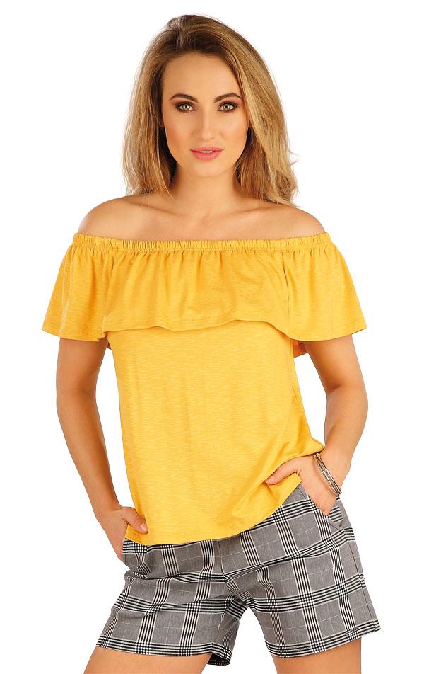Tričko dámske s volánom. 5A013 | Tielka, trička, halenky LITEX
