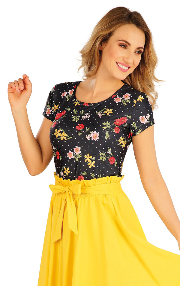 Tričko dámske s krátkym rukávom. 5A052 | Tielka, trička, halenky LITEX