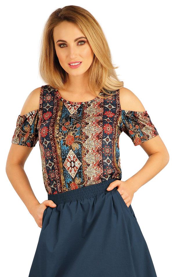 Tričko dámske s krátkym rukávom. 5A131 | Tielka, trička, halenky LITEX
