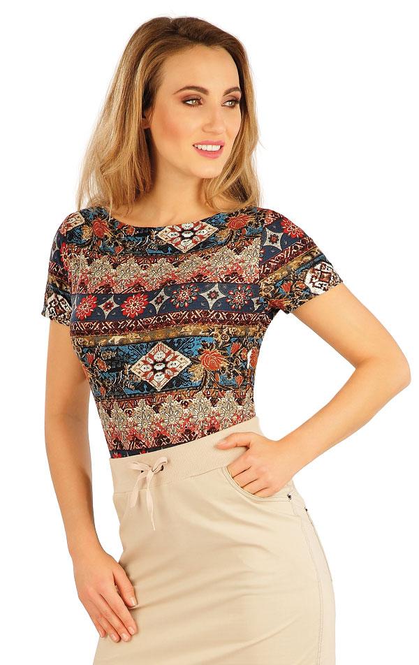 Tričko dámske s krátkym rukávom. 5A133 | Tielka, trička, halenky LITEX