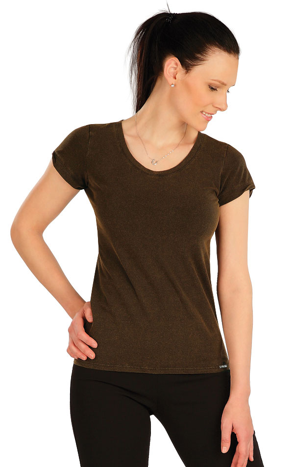 Tričko dámske s krátkym rukávom. 5A411 | Tielka, trička, halenky LITEX