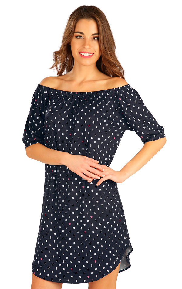 Šaty dámske s krátkym rukávom. 5B002   Šaty, sukne, tuniky LITEX