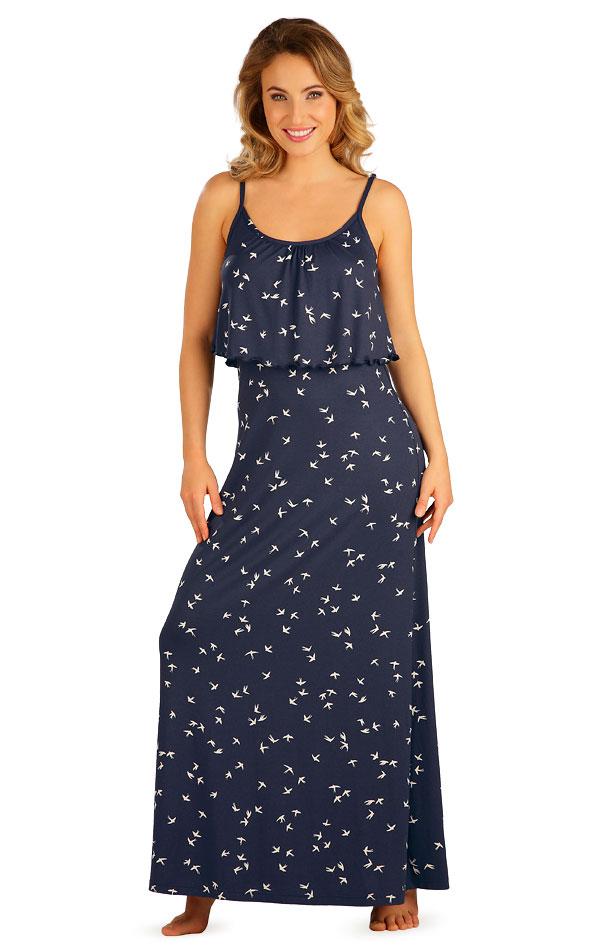Šaty dámske dlhé s volánom. 5B035   Šaty, sukne, tuniky LITEX