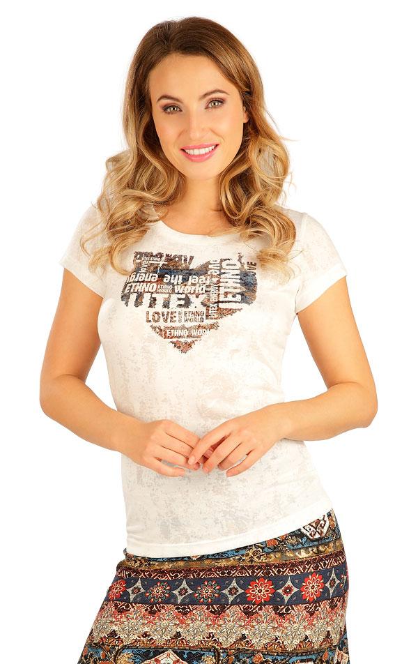 Tričko dámske s krátkym rukávom. 5B056 | Tielka, trička, halenky LITEX