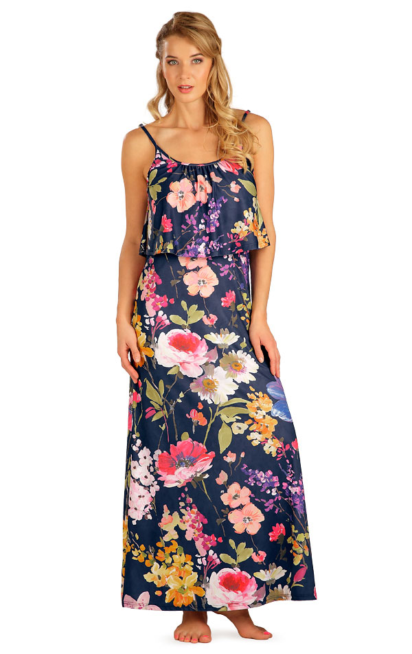 Šaty dámske dlhé s volánom. 5B092 | Šaty, sukne, tuniky LITEX