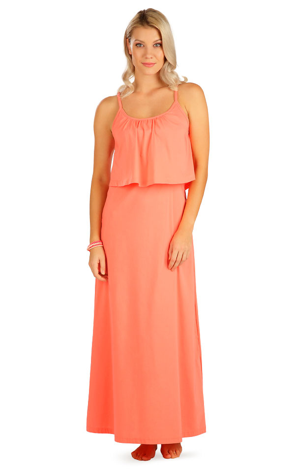 Šaty dámske dlhé s volánom. 5B099 | Šaty, sukne, tuniky LITEX