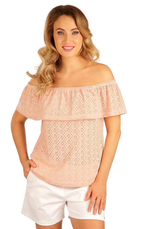 Tričko dámske s volánom. 5B114 | Tielka, trička, halenky LITEX