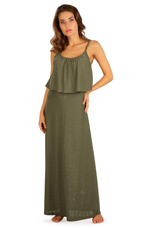 Šaty dámske dlhé s volánom. 5B119 | Šaty, sukne, tuniky LITEX