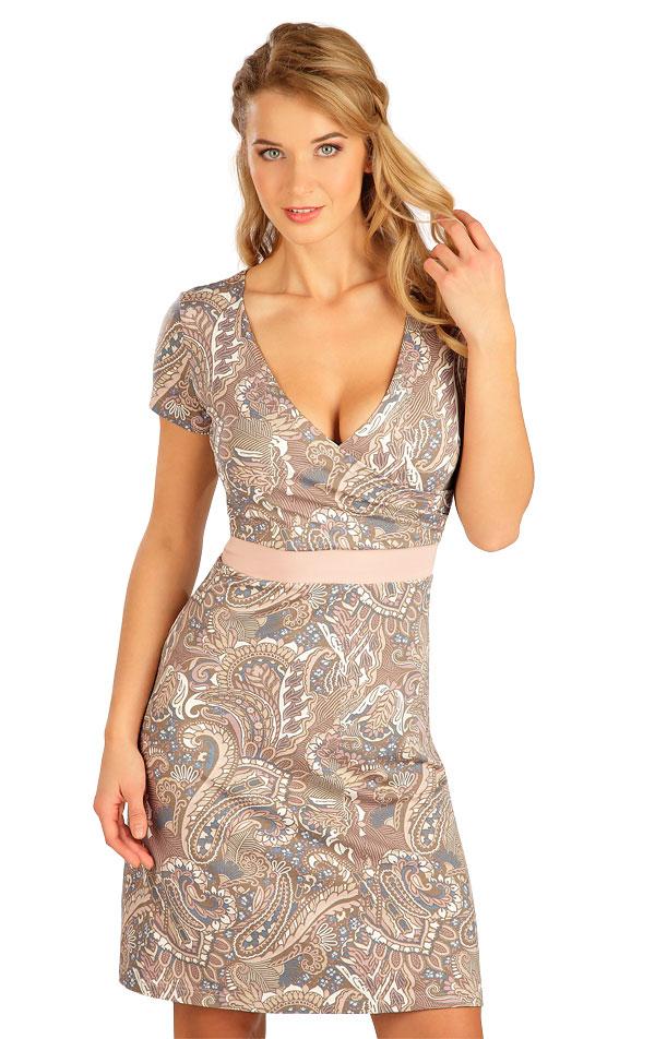 Šaty dámske s krátkym rukávom. 5B136   Šaty, sukne, tuniky LITEX