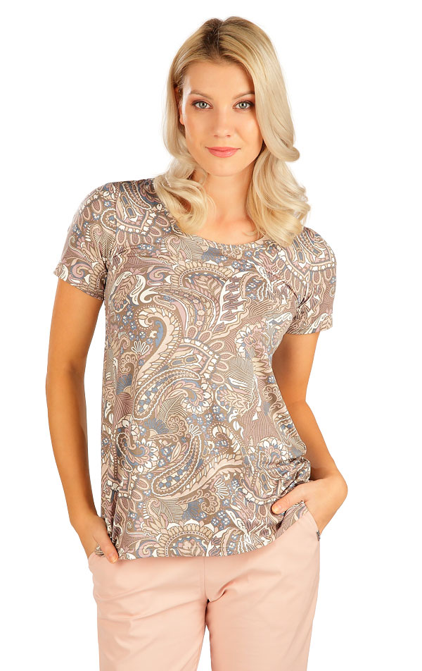 Tričko dámske s krátkym rukávom. 5B138 | Tielka, trička, halenky LITEX