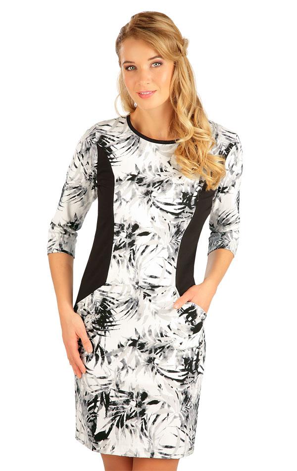 Šaty dámske s 3/4 rukávom. 5B147   Šaty, sukne, tuniky LITEX
