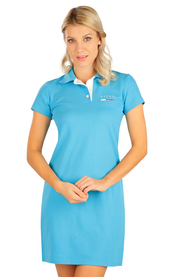 Šaty dámske s krátkym rukávom. 5B304 | Šaty, sukne, tuniky LITEX