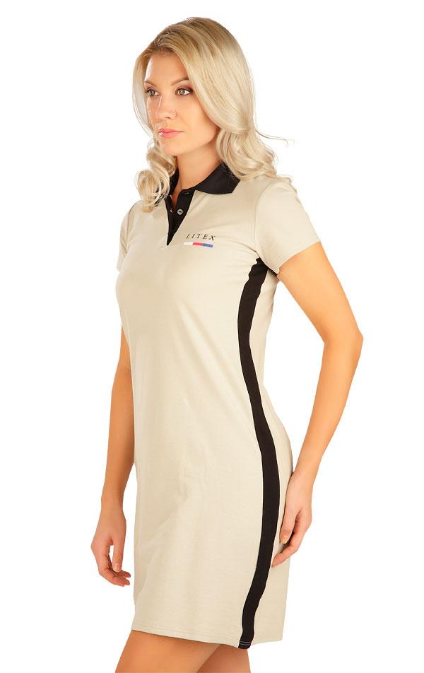 Šaty dámske s krátkym rukávom. 5B305   Šaty, sukne, tuniky LITEX