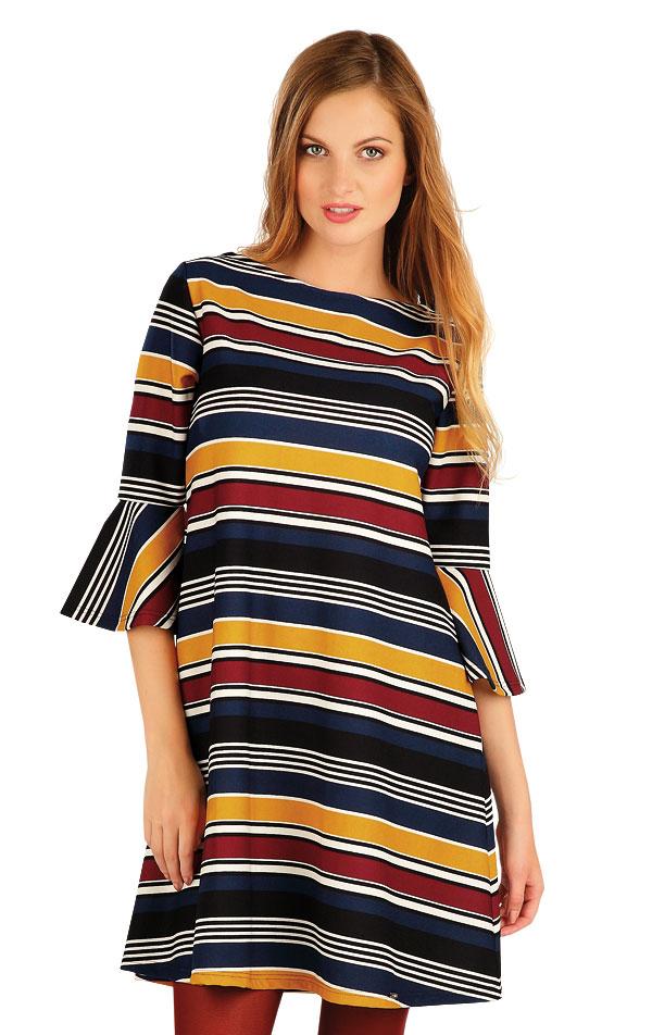 Šaty dámske s 3/4 rukávom. 60016 | Šaty, sukne, tuniky LITEX