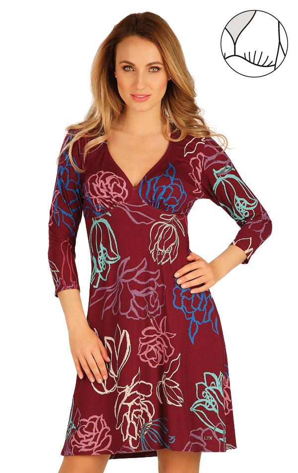 Šaty dámske s 3/4 rukávom. 60027 | Šaty, sukne, tuniky LITEX